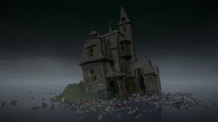 The house lost at sea 3D Model