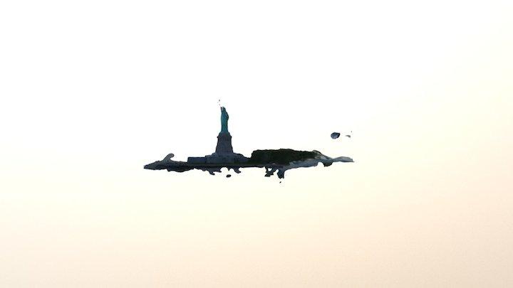 Statue Liberty Export1 3D Model