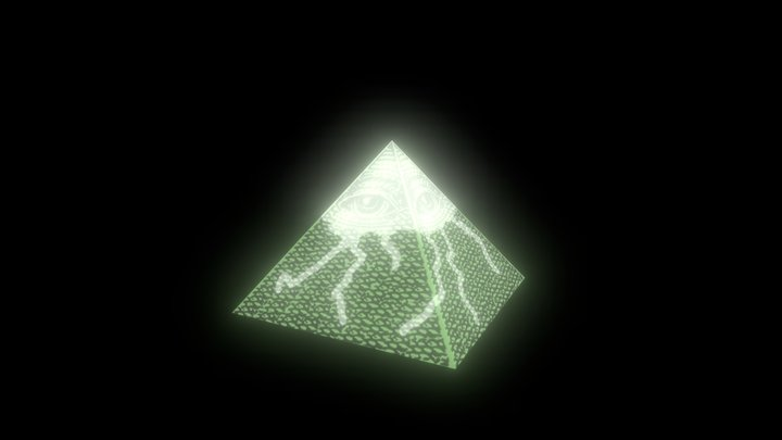 Illuminati pyramid. 3D Model