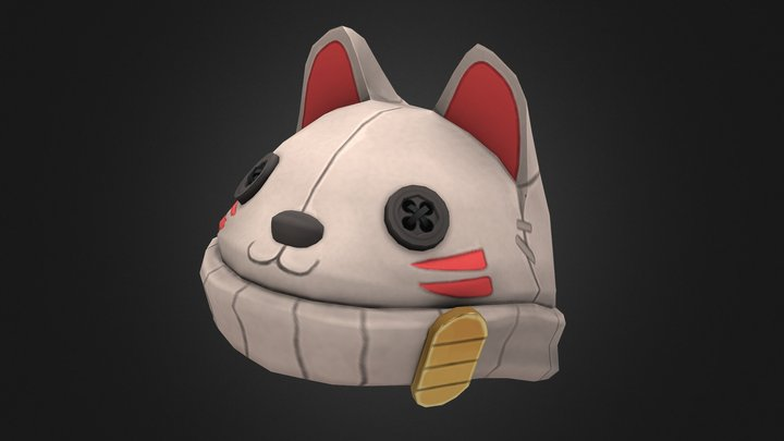Lucky Cat Hat 3D Model