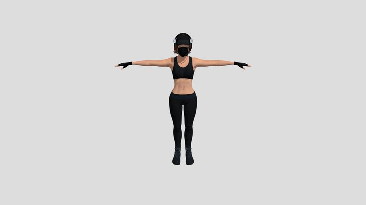 female warrior Sci-fi 3D Model