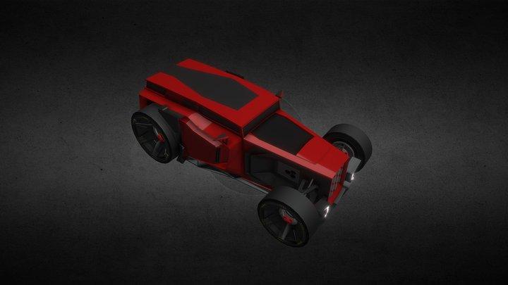Hot Rod Carbon (Game car) 3D Model