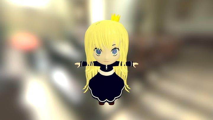 Chibi Princess Natsuko 3D Model