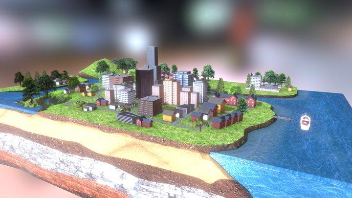 Gaming_City_terrain 3D Model
