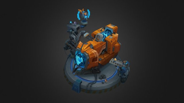 Mecha Sion Yordle Factory 3D Model