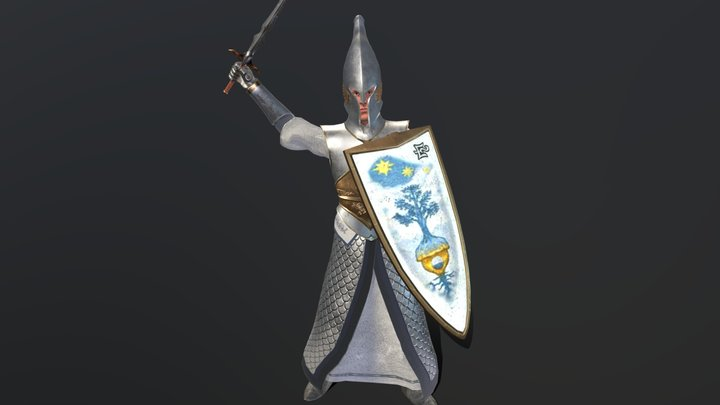 Elven swordsman & spearman 3D Model
