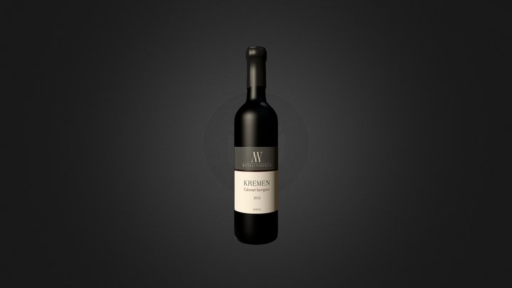 wine bottle Kremen 2012 3D Model