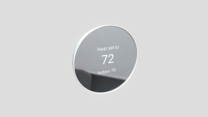 Google Nest Thermostat 3D Model