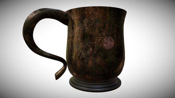 Old Pirate Cup 3D Model