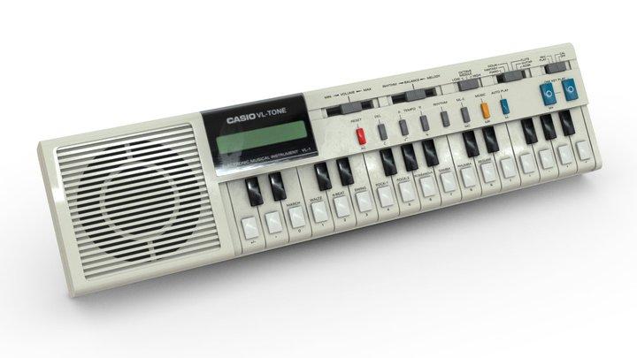 Keyboard (Casio VL-Tone) 3D Model