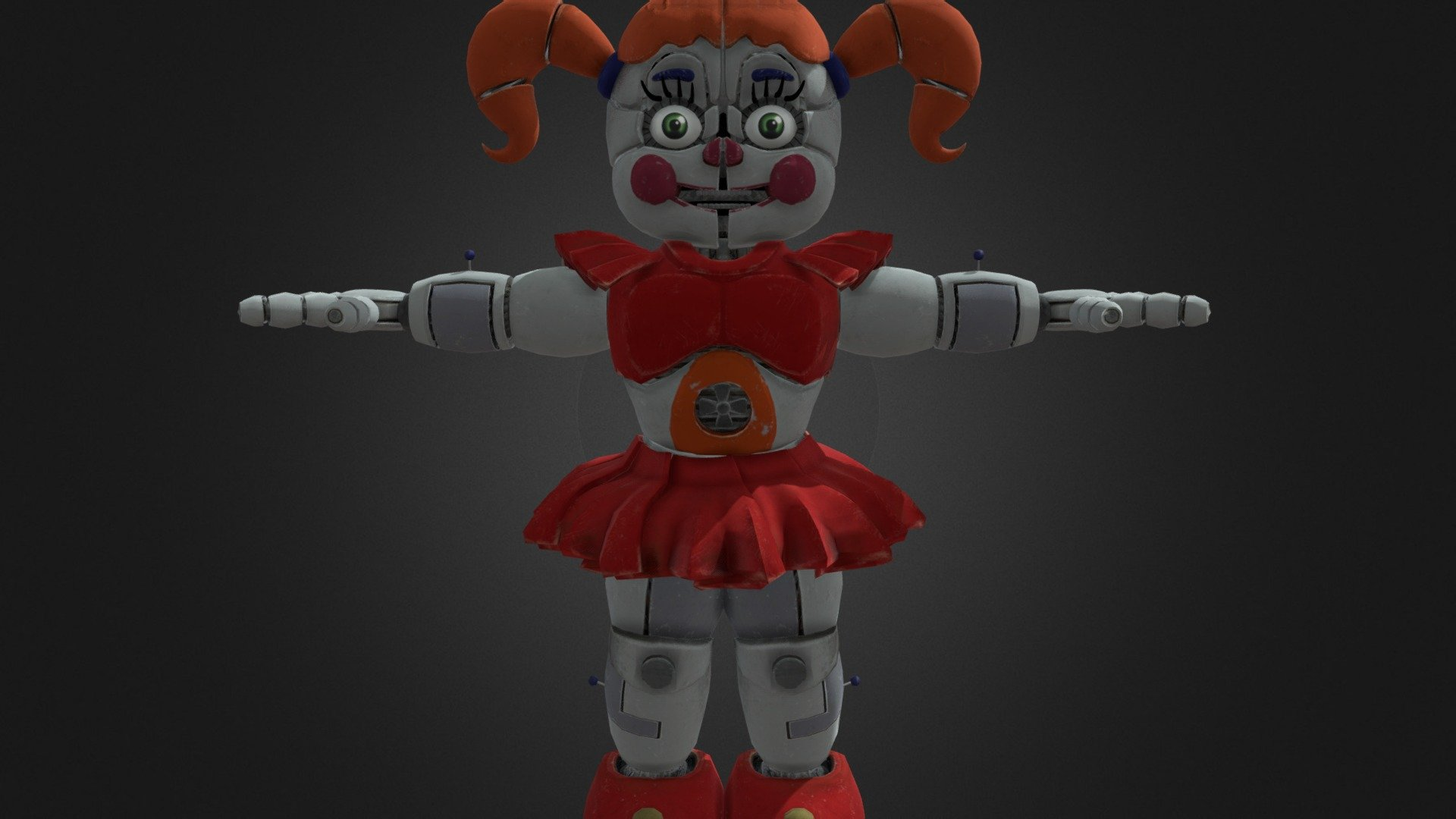 Circus Baby   Help Wanted - Download Free 3D model by ...