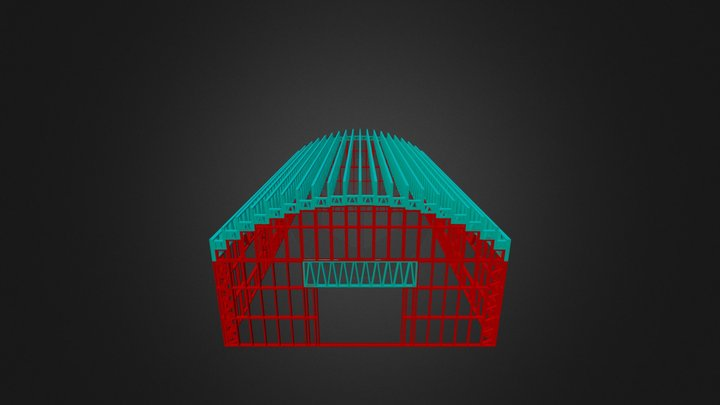 Canopy Roof  Building 3D Model