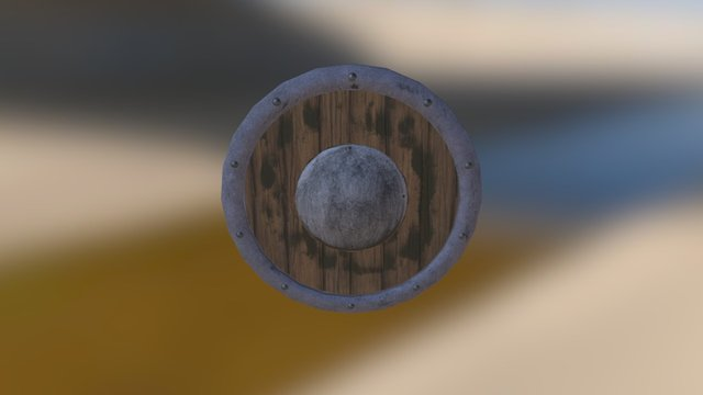 Plain round shield 3D Model