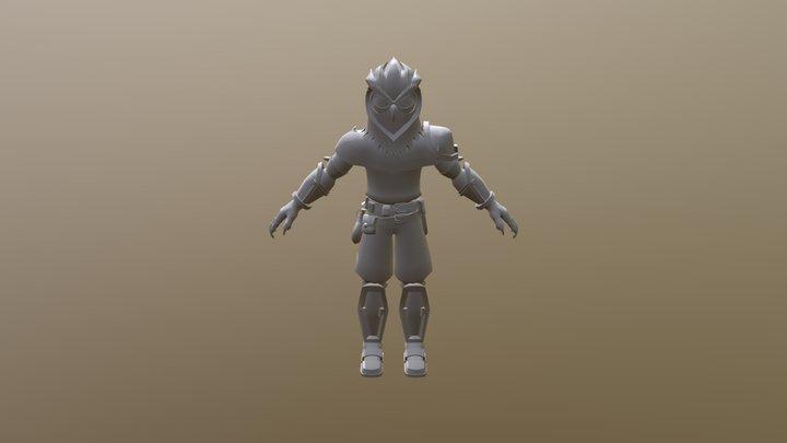 Owl Knight 3D Model