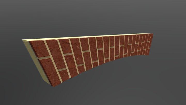 Raised Flat Gauge Brick Arch 3D Model