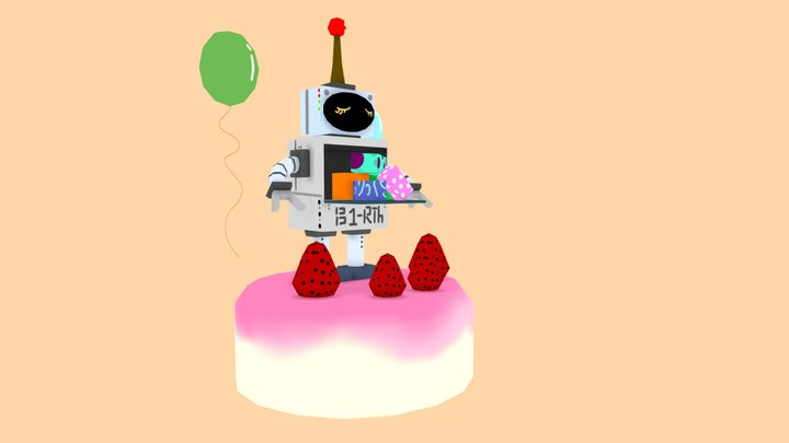 Birthday Robot 3D Model
