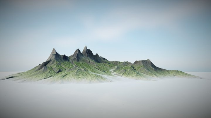 Background Mountains 3D Model