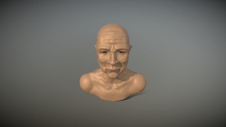 3D Sculpture Old Man 3D Model