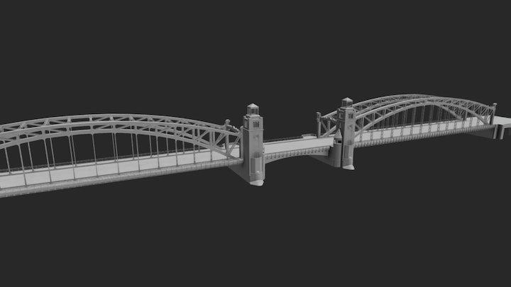 Bolsheokhtinsky Bridge (Большеохтинский мост) 3D Model