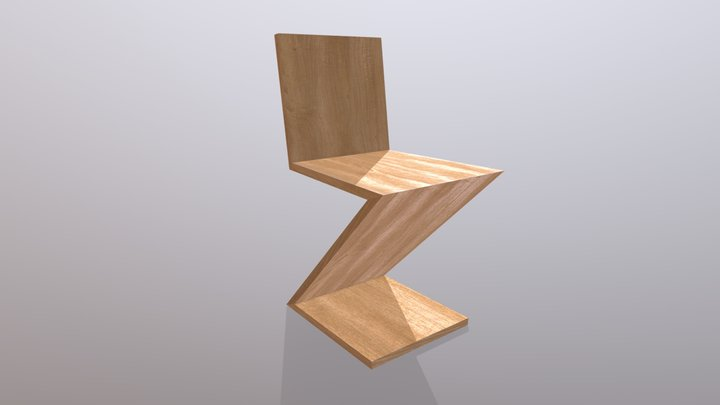 Zigzag Chair (G. Rietveld, 1932) 3D Model
