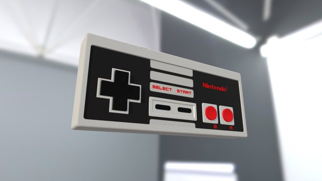 NES controller basic 3D Model