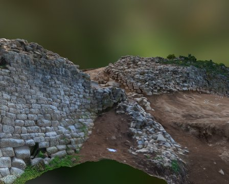 Mountain fortress 3D Model