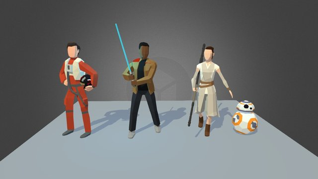 The Force Awakens Lowpoly 3D Model