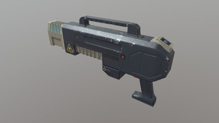 Doomish Gun 3D Model
