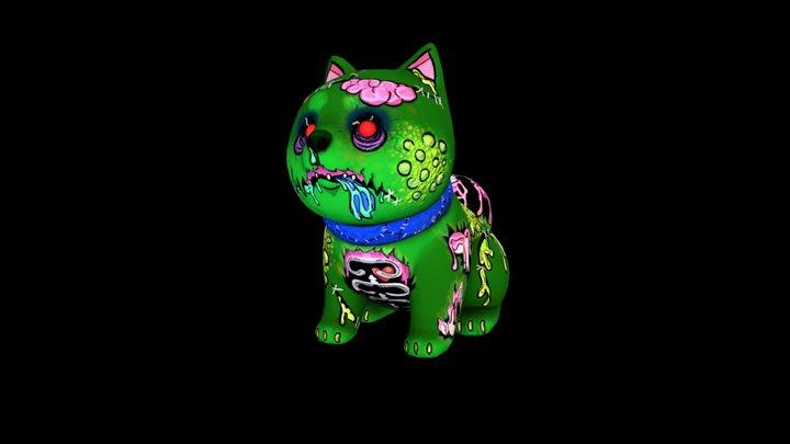 Pop Zombie Shiba Inu 3D Model