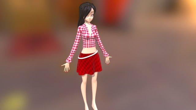 Anime_Girl 3D Model