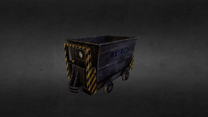 Extro Mine Wagon 3D Model