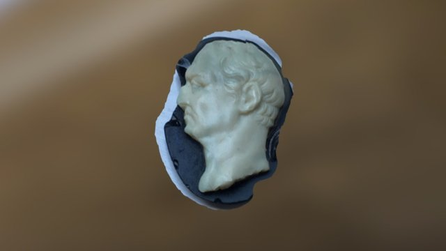 Glass Vespasian Cameo 3D Model
