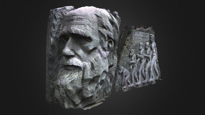 Darwin Statue 3D Model