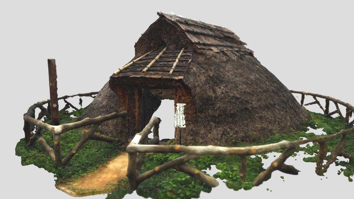 国指定史跡・三殿台遺跡の復元住居 3D Model