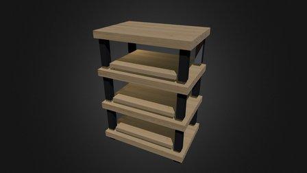 Hifi Rack 3D Model