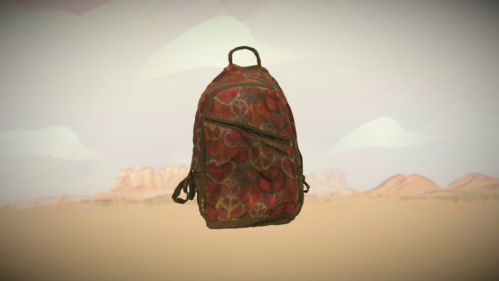 This backpack belonged to an apprehended migrant 3D Model