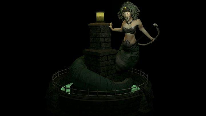Medusa's Retreat 3D Model