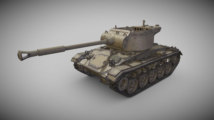 T78 Gun Motor Carriage 3D Model