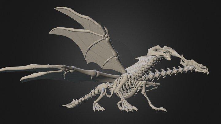Skeleton Dragon 3D Model