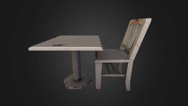 Prop_Table_and_chair 3D Model