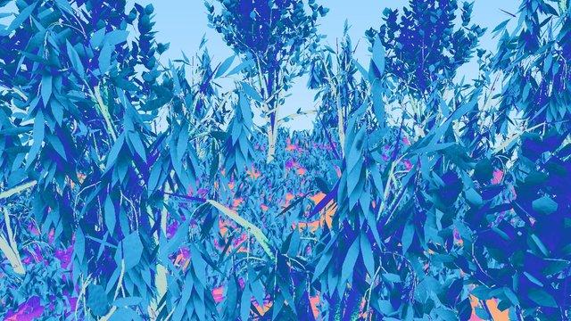 BLUE ALIEN FOREST 3D Model