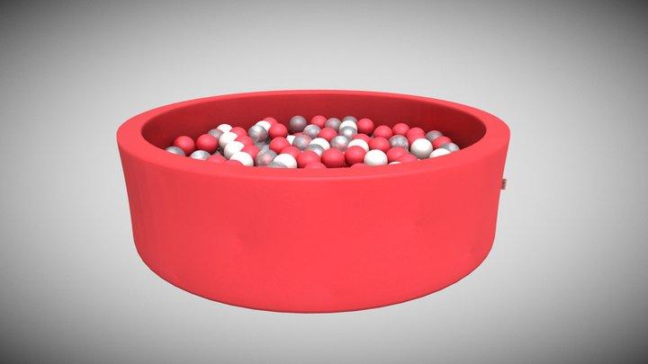 Snugo Motiv Bällebad - Flamingo 3D Model