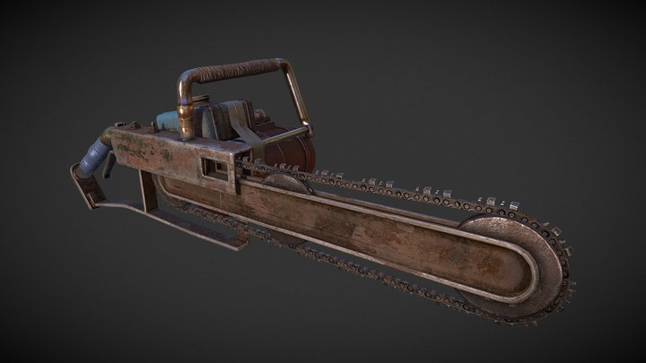 Chainsaw - Rust 3D Model