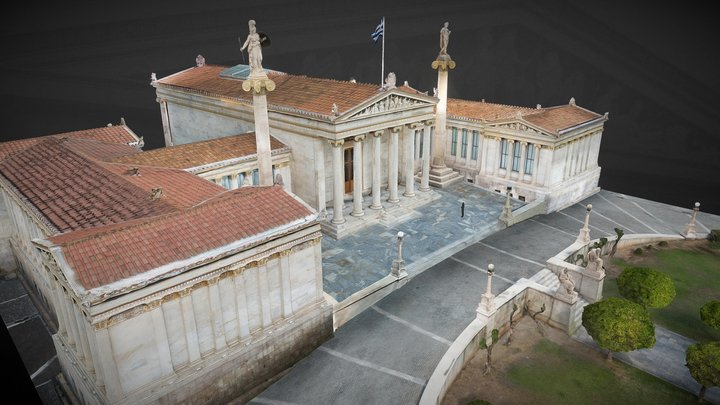 Academy of Athens Exterior 3D Model
