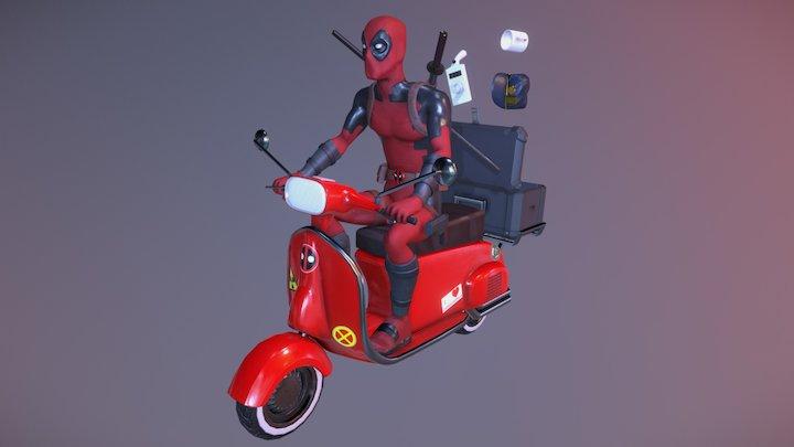 Deadpool's Scooter 3D Model