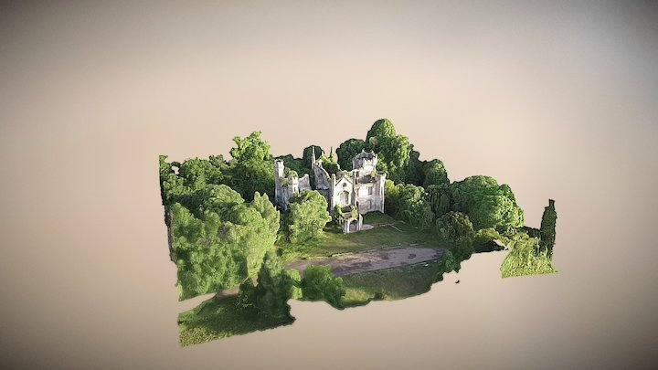 Abandoned Mansion Cambusnethan Priory 3D Model