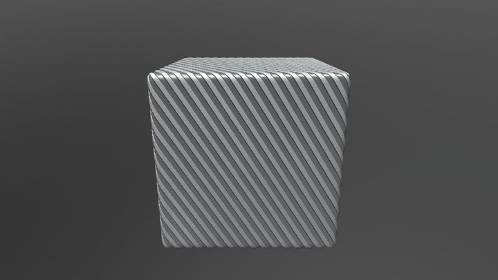 Striped gray texture 3D Model