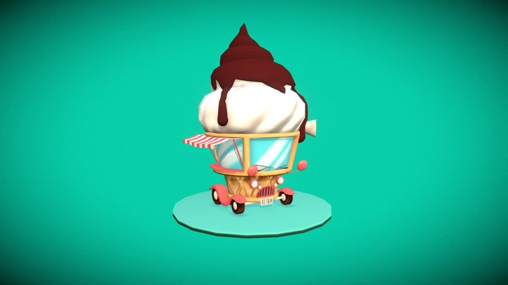 Ice Cream Truck (Challenge) 3D Model