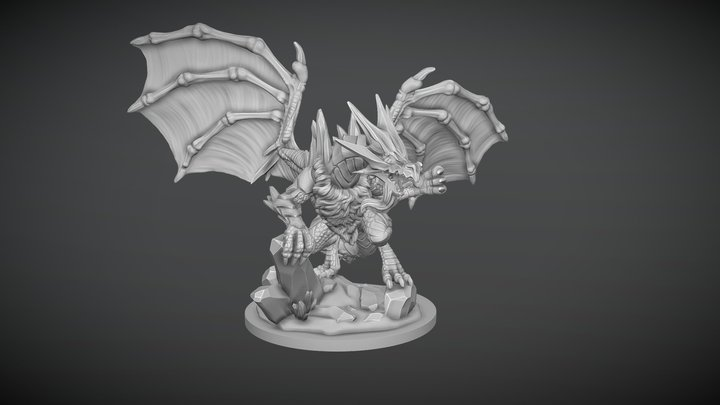 Father Of Frost Ice Dragon 3D Model