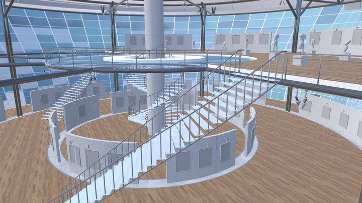 Picture gallery - showroom 3D Model